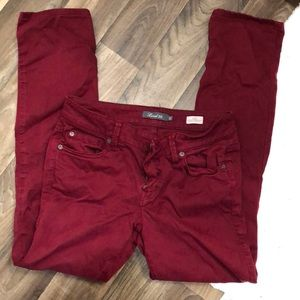 Level 99 wine colored pants